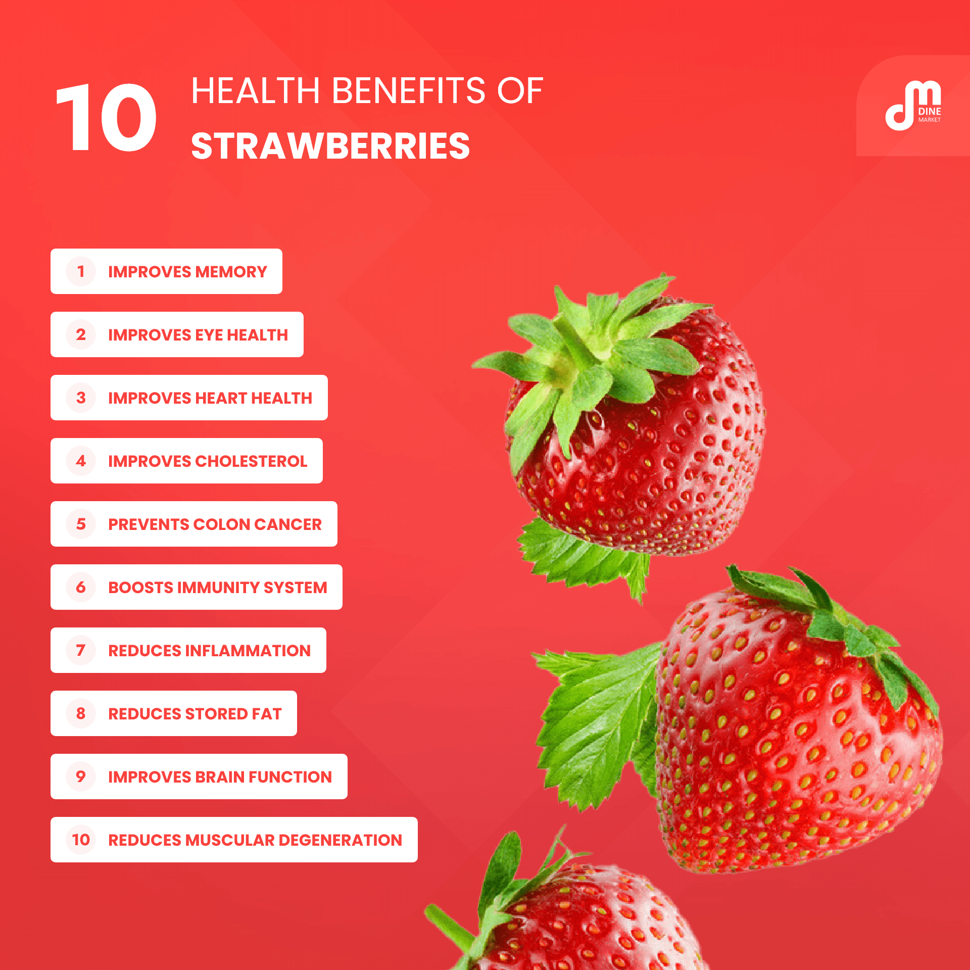 10 health benefits of strawberries you must know
